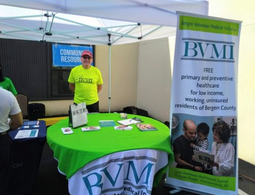 Louisa Voice Volunteers for BVMI at Recent Hackensack NJ Health Fair